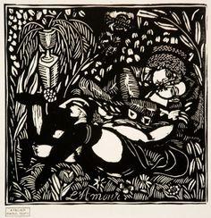 Gravure sur bois - Raoul Dufy - L'Amour