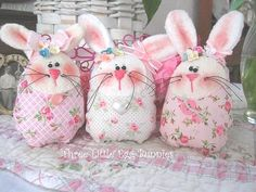 softie bunnies. Would be cute to make with felt