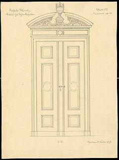 Front Door Drawing haustor 1:10, aufbewahrung/standort: | drawing doors | pinterest