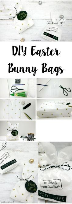 Easter wrapping: bunny bags - Easy Crafts for All Diy Easter Bags, Easter Crafts For Kids, Easter Presents, Diy Presents, Hoppy Easter, Easter Bunny, Craft Stick Crafts, Crafts To Do, Wrapping Gift