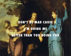 flyartproductions: Tragedy is mad Garrick between Tragedy and Comedy (1760), Joshua Reynolds / Sweatpants, Childish Gambino