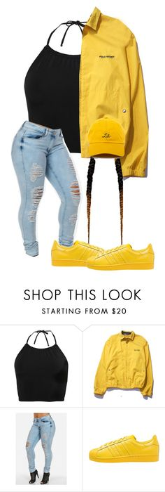 """Young Savage, why you trappin' so hard?"" by nasza100 ❤ liked on Polyvore featuring Monki, Polo Ralph Lauren and adidas Originals"