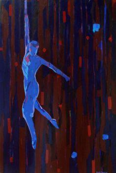 Mellissa Read-Devine Varekais Icarus - 2013 Acrylic on canvas 95 x 64 cm Sofitel Hotel, Paintings, Canvas, Reading, Art, Cirque Du Soleil, Tela, Art Background, Painting Art