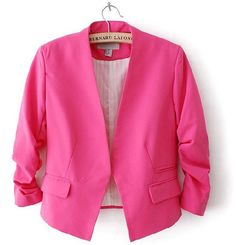Suit coat repurpose inspiration. Too trendy of a cut? Candy Color Blazer