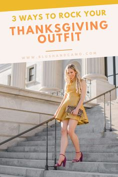 Are you wondering what to wear to Thanksgiving dinner this year? Wonder no more! Let me show you 3 ways you can rock your Thanksgiving outfit! Cooking may be stressful but what to wear doesn't need to be! #fallinspo #favoritetimeofyear #fashioninspo