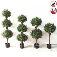 Outdoor Artificial Topiary Boxwood Ball Tree in different size