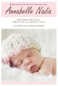 FREE Birth Announcements templates - January freebie