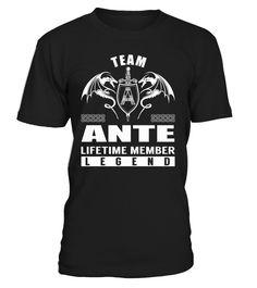 Team ANTE Lifetime Member Legend #Ante