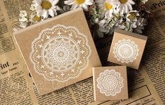 Lace Stamp Series - Wooden Rubber Stamps - Korean Stamps - Diary Stamps - 3 pcs in by mieryaw on Etsy https://www.etsy.com/listing/128596831/lace-stamp-series-wooden-rubber-stamps