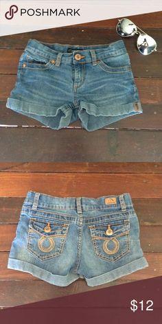 Girls jean shorts Girls cuffed jean shorts Bottoms Shorts