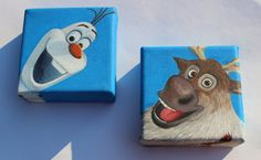 Frozen Olaf and Sven paintings on etsy, search frontporchpainting