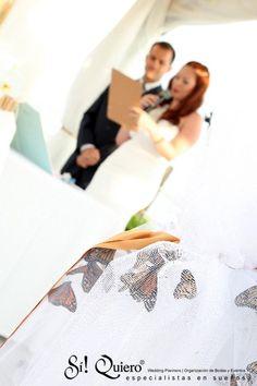 Suelta de mariposas en ceremonia