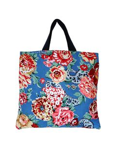 Project bag in Kashmir Rose Denim — sarah campbell designs Sarah Campbell, Michael Miller Fabric, Little People, Reusable Tote Bags, Hand Painted, Pure Products, Denim, Knitting, Tricot