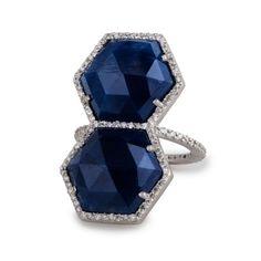 Caleo Double Hexagon ring. Layer on the gems Ladies...