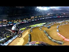 Unbelievable laps with James Stewart. Monster Energy Supercross 2012.