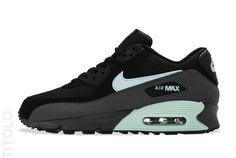 Nike Air Max 90 Essential-Black/Mint Candy-Dark Grey