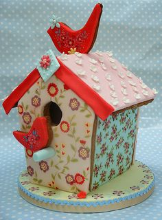 Gingerbread Bird House!