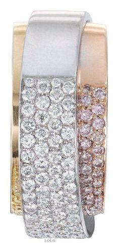 White gold and rose gold diamond bracelet | Fashion Jewelry Modern | Rosamaria G Frangini