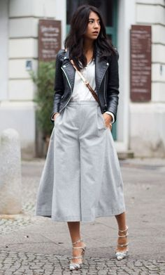 """we are here to talk about Culottes Outfit. So checkout Classy Culottes Outfit Ideas For Women"""" Looks Street Style, Street Style Trends, Mode Outfits, Fashion Outfits, Womens Fashion, Fashion 2017, Fashion Models, Culottes Outfits, Fashion Clothes"""