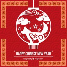 Flat chinese new year background Free Vector Chinese New Year Wallpaper, Chinese New Year Background, Chinese New Year Poster, Chinese New Year Card, New Years Background, Facebook Idea, Chinese Red Envelope, New York Poster, New Year Designs