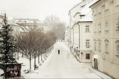 Early walking in Prague