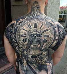 125 Best Back Tattoos For Men: Cool Ideas + Designs (2021 Guide) Tattoos For Guys Badass, Cool Back Tattoos, Back Tattoos For Guys, Back Tattoo Men, Backpiece Tattoo, Skull Tattoos, Body Art Tattoos, Tattoo Bird, Wing Tattoos