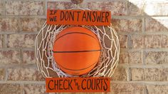 Basketball Wreath Available on Etsy