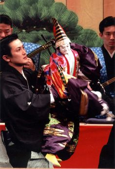 """""""Bunraku"""" Bunraku, also known as Ningyō jōruri, is a form of traditional Japanese puppet theatre, founded in Osaka in 1684."""