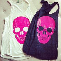 Skull Tanks. Cute for best friends! ♥♥