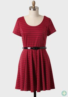 Holly Berry Curvy Plus Belted Dress | Modern Vintage New Arrivals