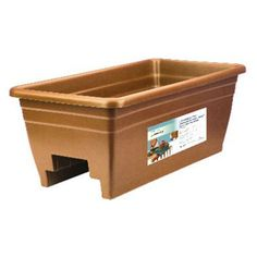 Akro-Mils Deck Rail Planter made with thick wall construction from durable resin will withstand the elements. Available in three color options. Will fit and inch deck rails. Equipped with easy to remove drain plugs. Dimensions: x x Deck Planter Boxes, Deck Railing Planters, Deck Railings, Decking, Deck Box, Resin Planters, Plastic Planter, Fiberglass Planters, Flower Planters