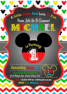 mickey mouse birthday invitation mickey mouse by mymyparty on etsy