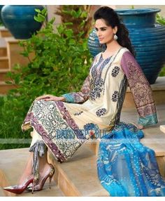 Lawn Dresses Collection 2015 By HSY Ittehad Textiles