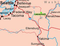 Map to Leavenworth Washington