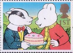 Greetings Stamps - Giving 1st Stamp (1993) Bill Badger and Rupert Bear