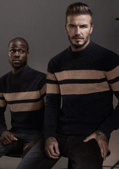 David Beckham + Kevin Hart for H&M Modern Essentials Fall 2015 Campaign