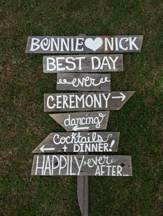 Rustic Wedding Sign BEST DAY EVER Romantic by TRUECONNECTION, $195.00