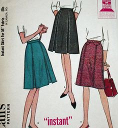 Vintage 1960s Sewing Pattern McCall's 7908 Misses'