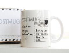 Postmug the postcard mug by baileydoesntbark on Etsy