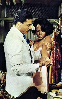 "Diana Ross and Billy Dee Williams in the movie ""Lady Sings the Blues"""