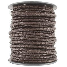(SKU# Sold per pack of 1 spool(s). Leather Cord, Brown Leather, Braids, Chain, Ebay, Bang Braids, Cornrows, Braid Hairstyles, Necklaces
