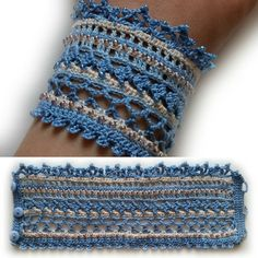 "21 Likes, 1 Comments - Вязание и вышивка (@ok.semyonova) on Instagram: ""#crochet #crochetbracelet #crochetjewelry #crochetaccessories #crochetcuff #браслет #браслеткрючком…"""