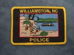E459  Obsolete Police Patch Williamston NC North Carolina