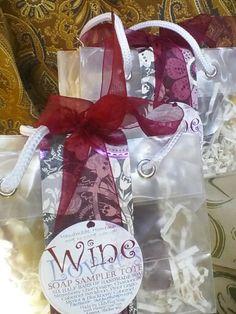 Wine Lover's soap sampler tote Oct2013