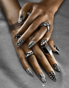 Nigel Cox photographs nail art for Essence magazine