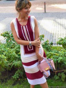 Fabulous Crochet a Little Black Crochet Dress Ideas. Georgeous Crochet a Little Black Crochet Dress Ideas. Crochet Shirt, Cotton Crochet, Crochet Lace, Black Crochet Dress, Knit Dress, Crochet Clothes, Diy Clothes, Diy Crafts Dress, Vestido Multicolor
