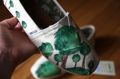 Custom TOMS Shoes - My Forest. $94.50, via Etsy.