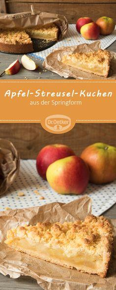 Apfel-Streusel-Kuchen aus der Springform - Ein fruchtiger Obstkuchen mit Streuseln für die Kaffeetafel #apfel #kuchen #rezept