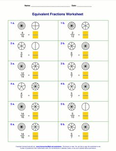 Worksheets For Autistic Kids Fractions Worksheets  Math  Worksheets  Pinterest  Worksheets  Irregular Shapes Area Worksheets with Technology Worksheets For Kids Create An Unlimited Supply Of Worksheets For Equivalent Fractions With Or  Without Visual Pie Models Grades The Worksheets Can Be Made In Html Or Pdf   Wavelength Worksheet Pdf