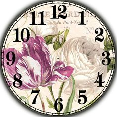 Циферблат. Clock Face Printable, Clock Craft, Clock Flower, Shabby Chic Cards, Decoupage Paper, Rose Design, Time Art, Hobbies And Crafts, Face Images